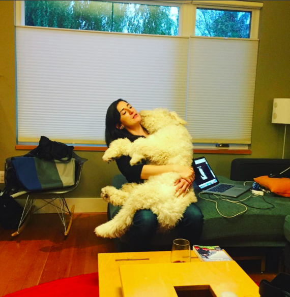 My sister and her lapdog.