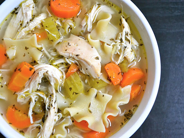 Chicken Noodle Soup close